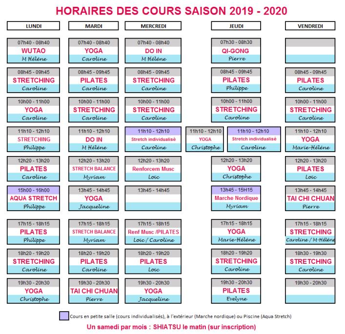 Horaires des cours 2019-2020 v03