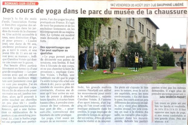 Yoga au musée